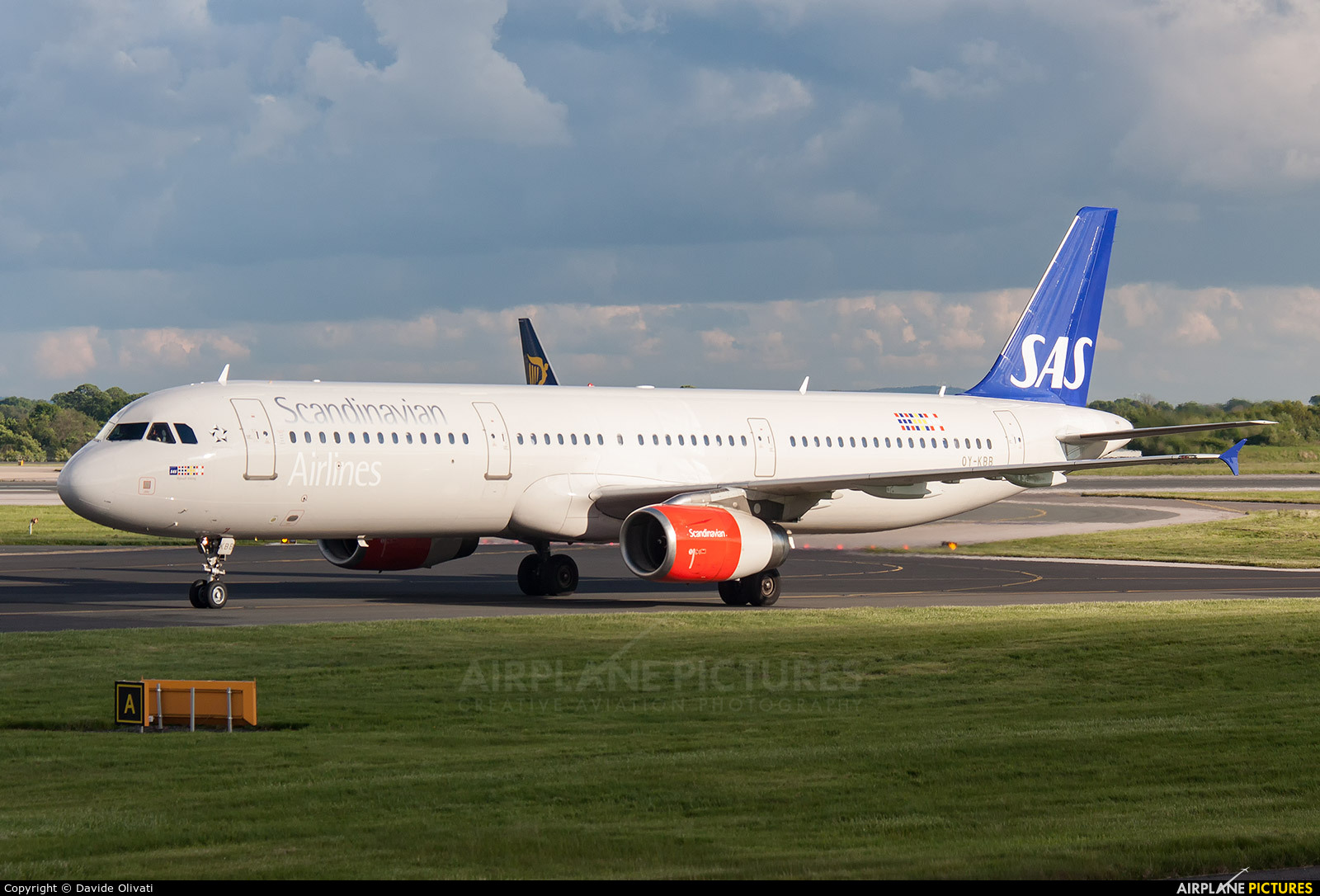 SAS - Scandinavian Airlines OY-KBB aircraft at Manchester