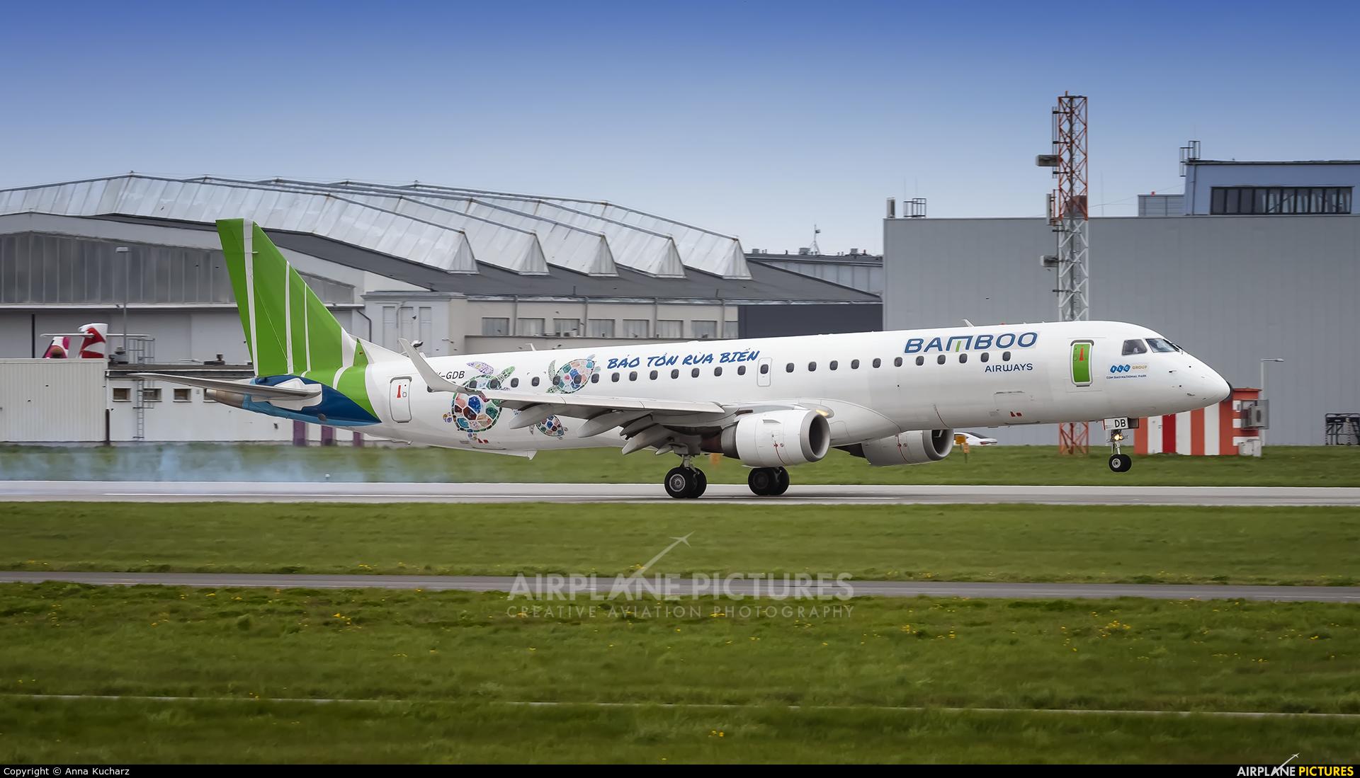 Bamboo Airways OY-GDB aircraft at Warsaw - Frederic Chopin