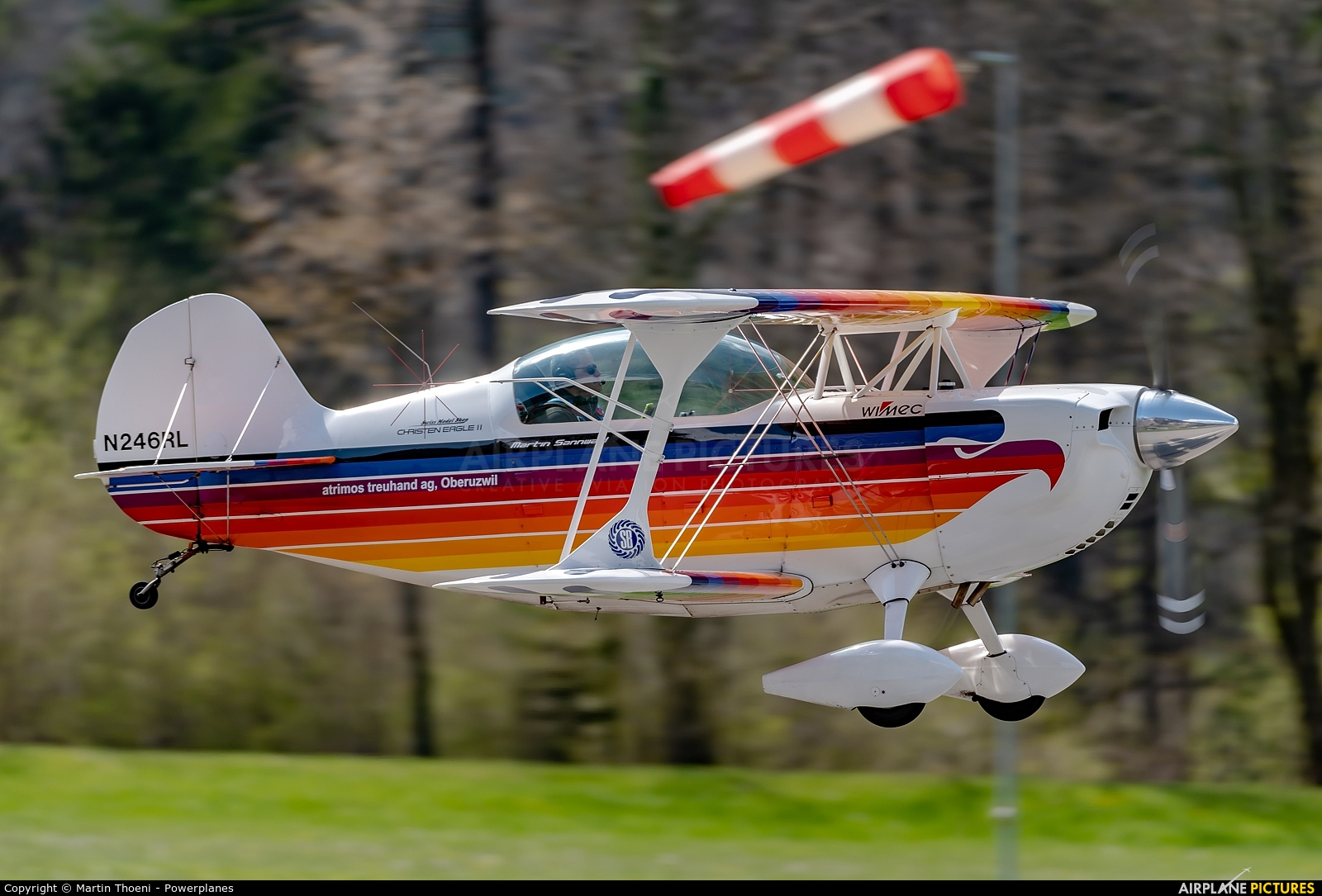Private N246RL aircraft at Mollis