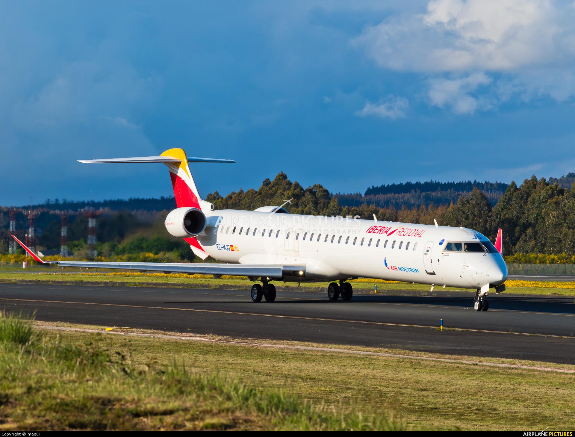 Air Nostrum - Iberia Regional EC-MJQ aircraft at Santiago de Compostela