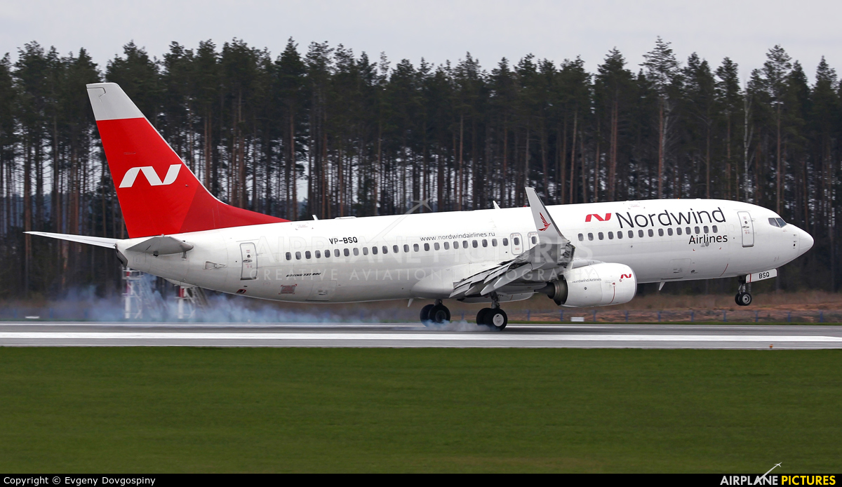 Nordwind Airlines VP-BSQ aircraft at Minsk Intl