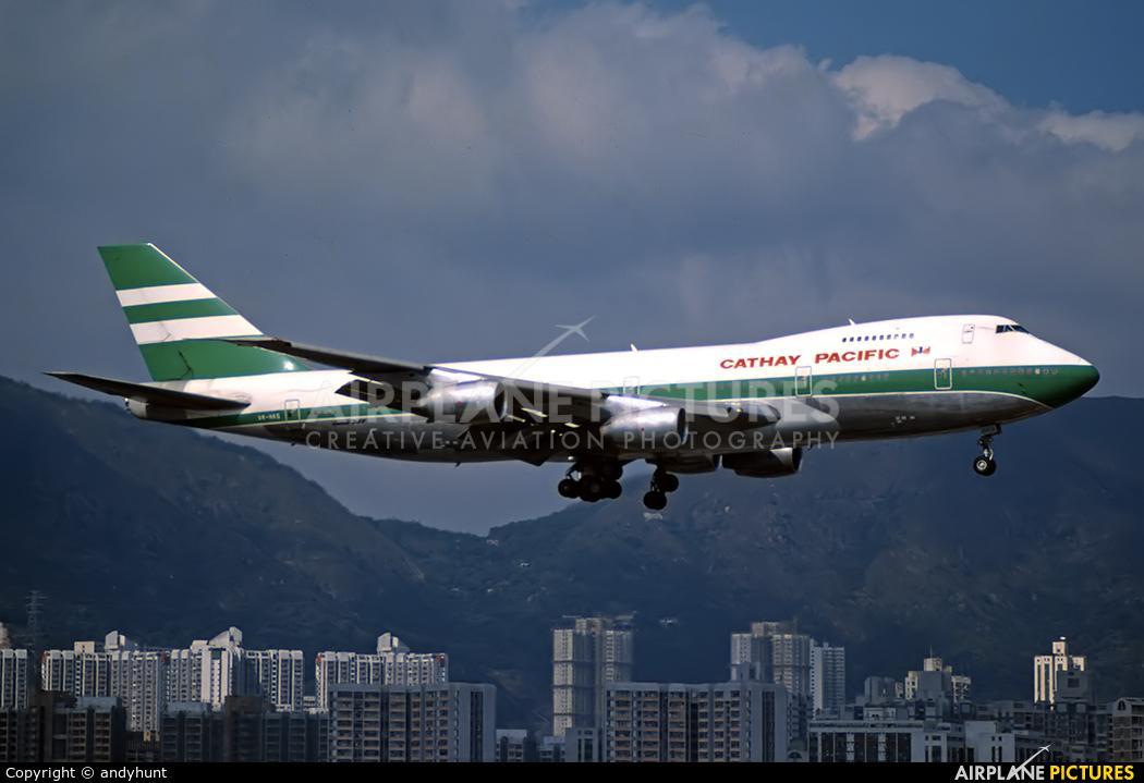Cathay Pacific VR-HKG aircraft at HKG - Kai Tak Intl CLOSED