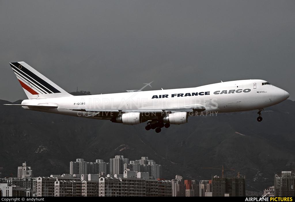 Air France Cargo F-GCBG aircraft at HKG - Kai Tak Intl CLOSED