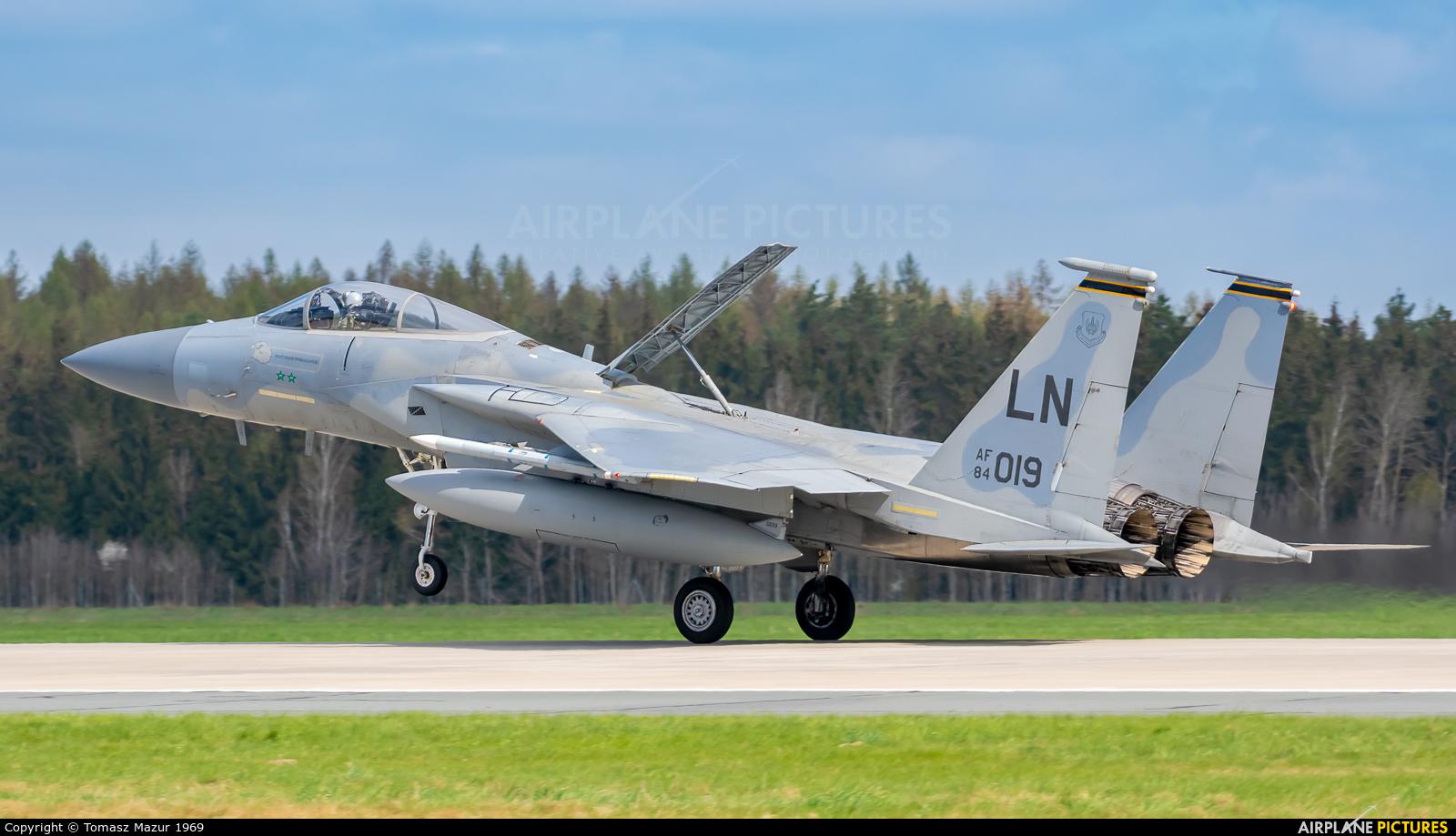 USA - Air Force 84-0019 aircraft at Poznań - Krzesiny