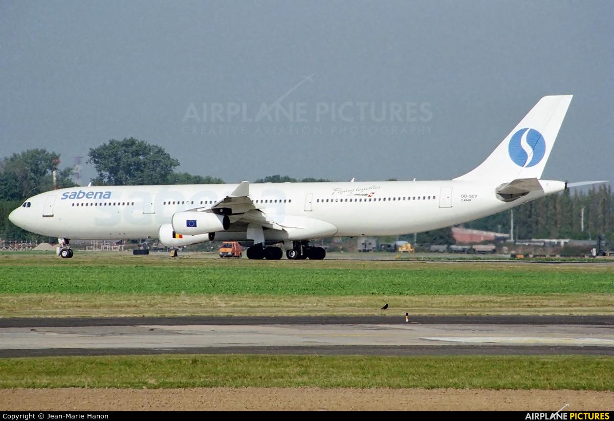 Sabena OO-SCY aircraft at Brussels - Zaventem