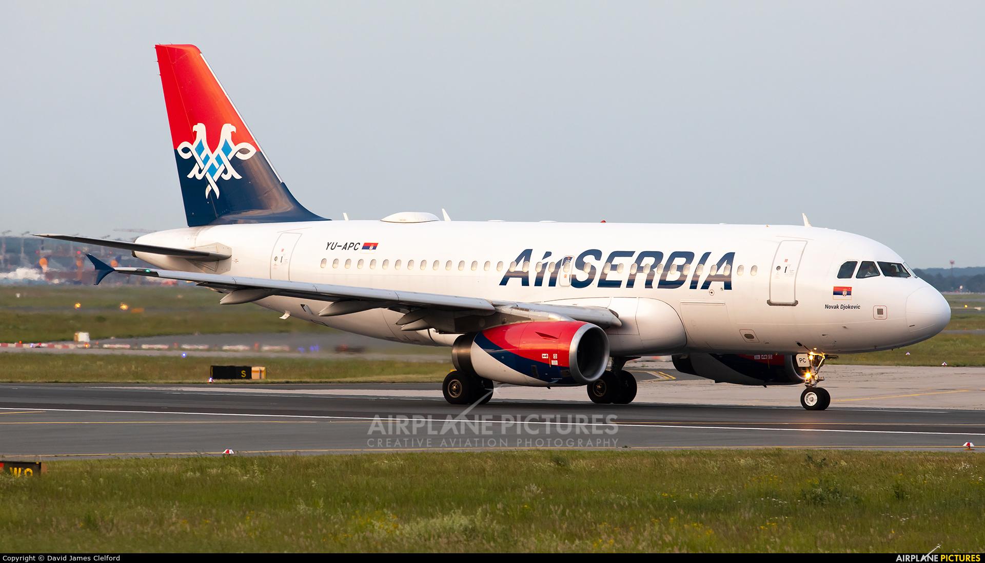 Air Serbia YU-APC aircraft at Frankfurt