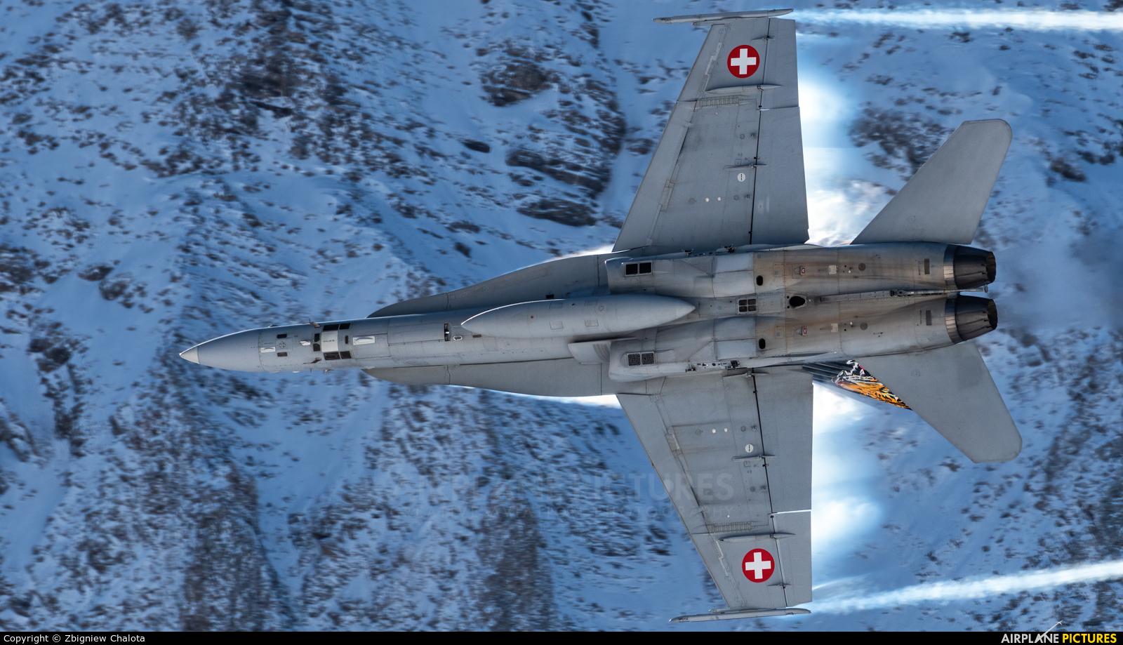 Switzerland - Air Force J-5011 aircraft at Ebenfluhe Range, Axalp
