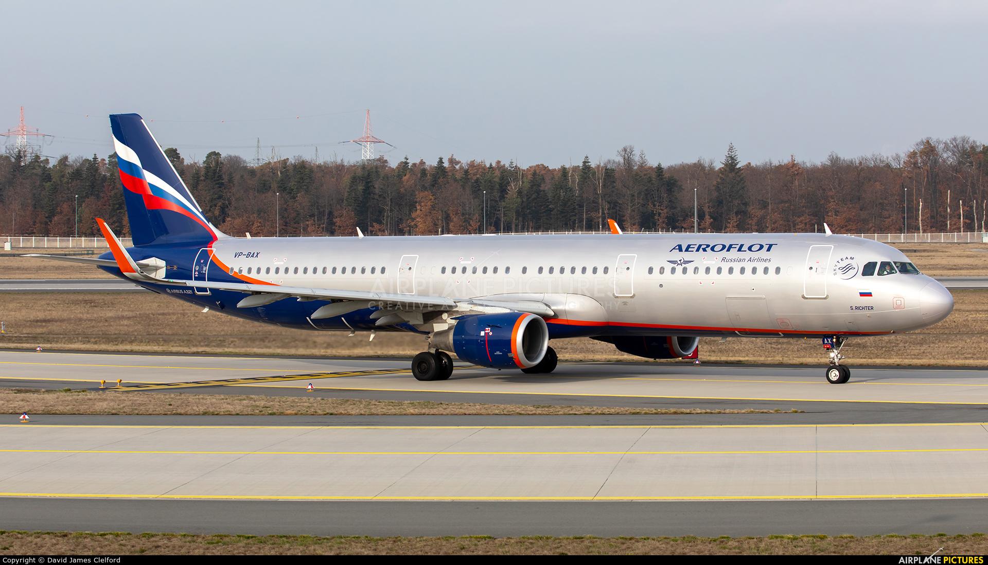 Aeroflot VP-BAX aircraft at Frankfurt