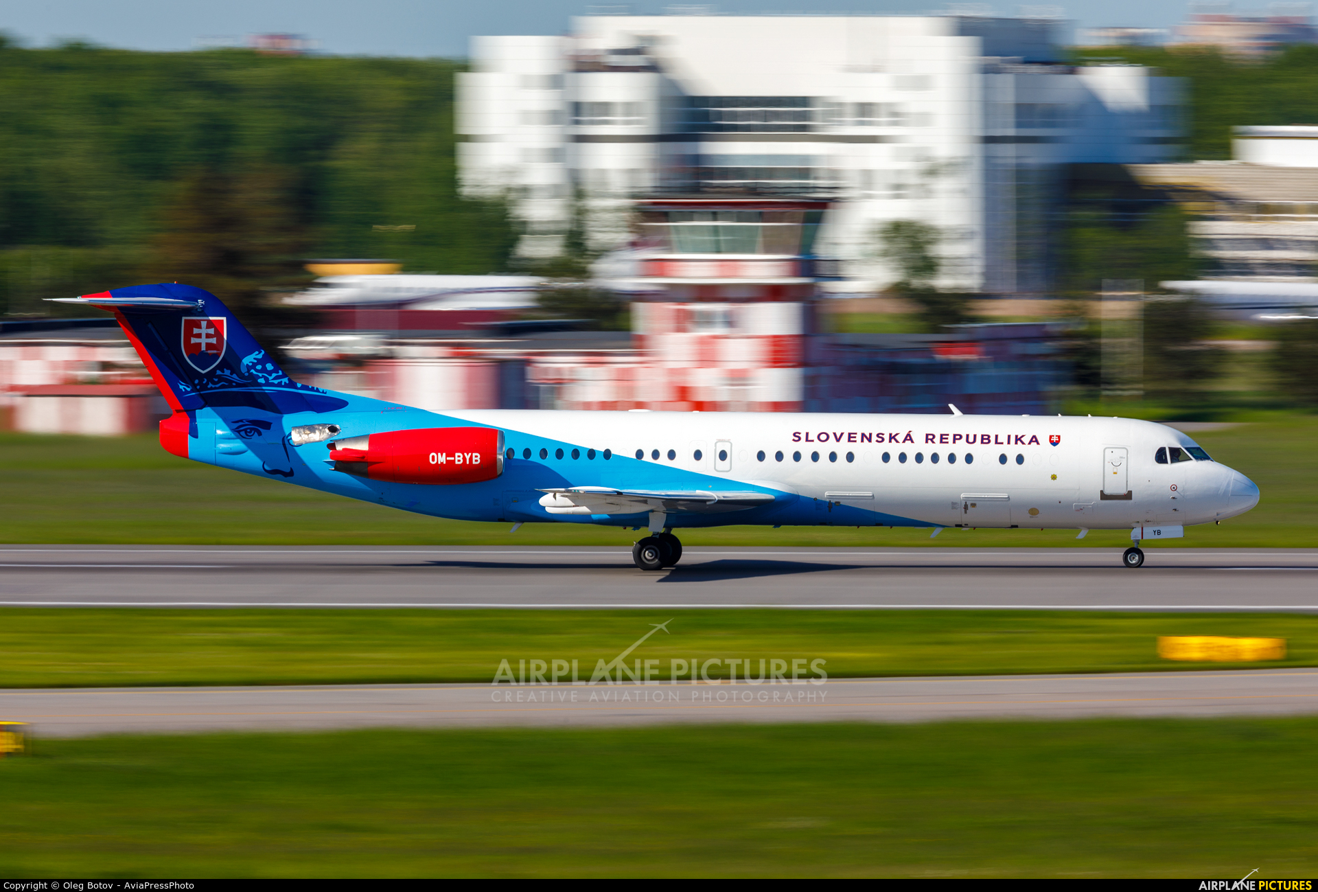 Slovakia - Government OM-BYB aircraft at St. Petersburg - Pulkovo