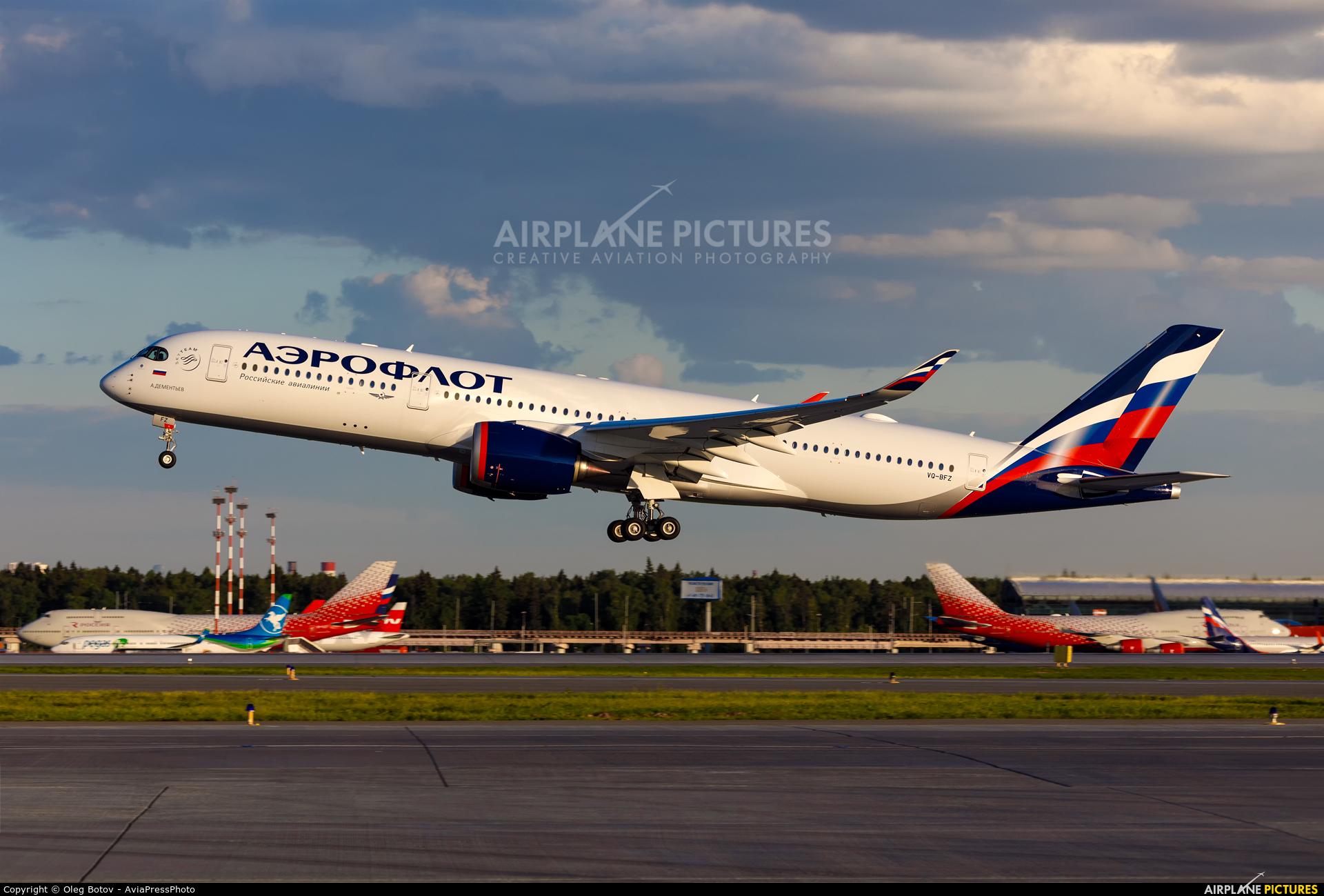Aeroflot VQ-BFZ aircraft at Moscow - Sheremetyevo