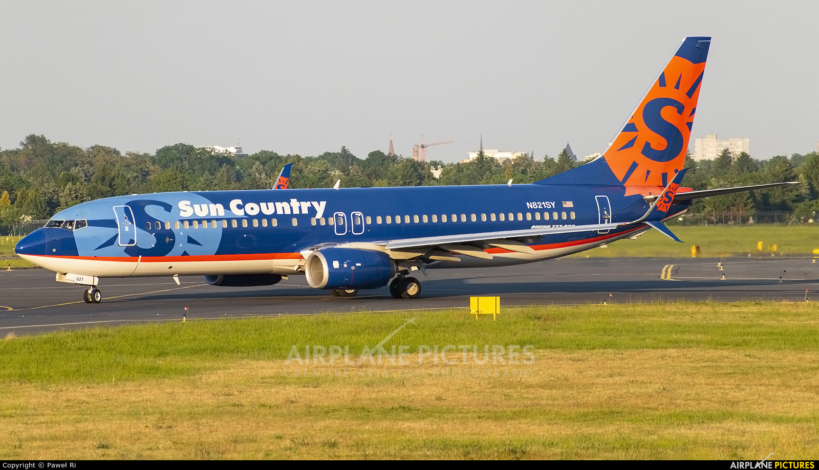 Sun Country Airlines N821SY aircraft at Poznań - Ławica