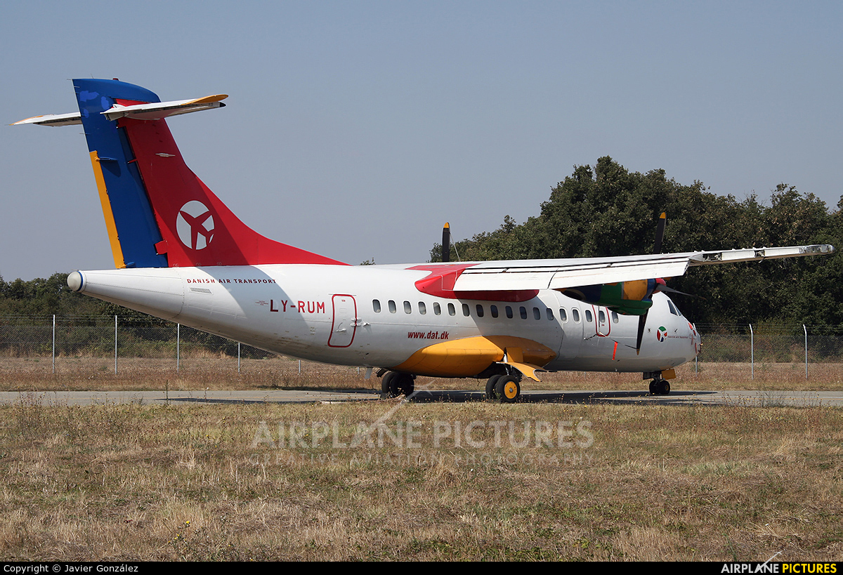 Danish Air Transport LY-RUM aircraft at Toulouse - Blagnac