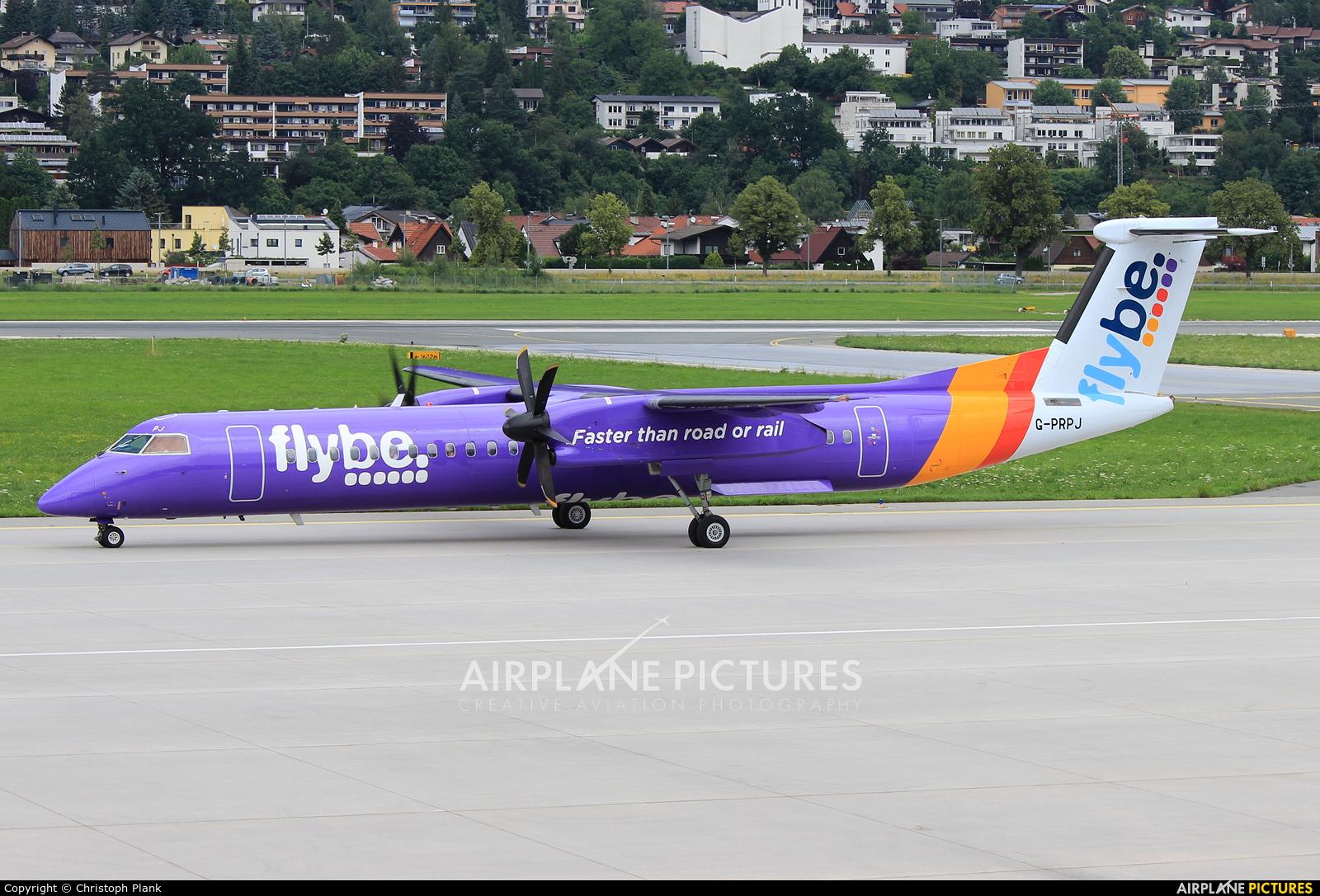 Flybe G-PRPJ aircraft at Innsbruck
