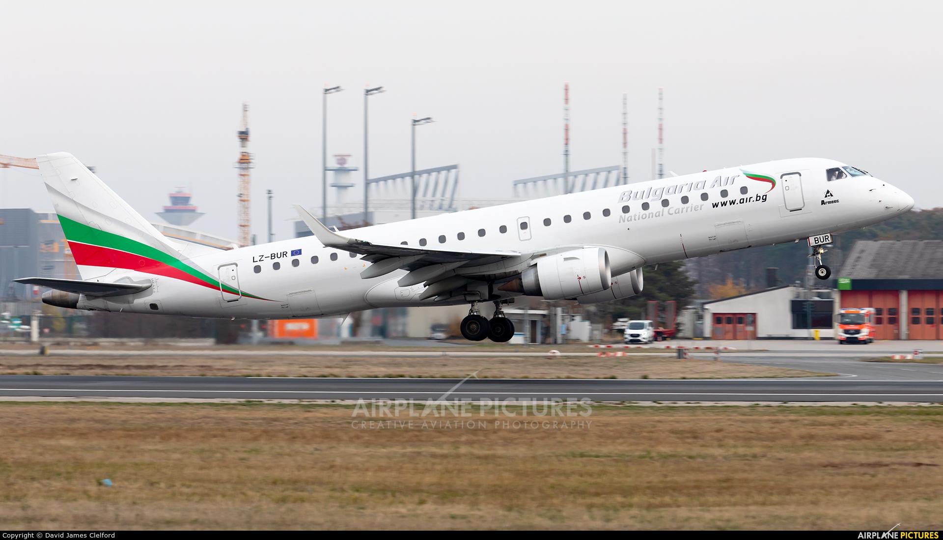 Bulgaria Air LZ-BUR aircraft at Frankfurt
