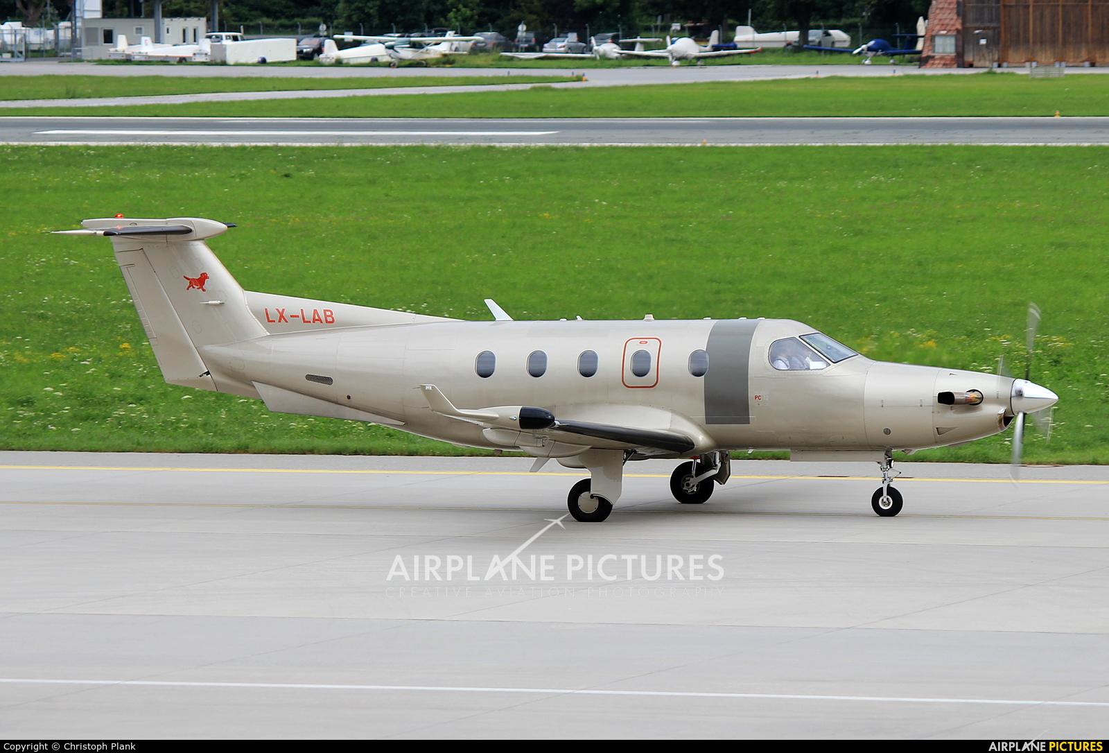 Jetfly Aviation LX-LAB aircraft at Innsbruck