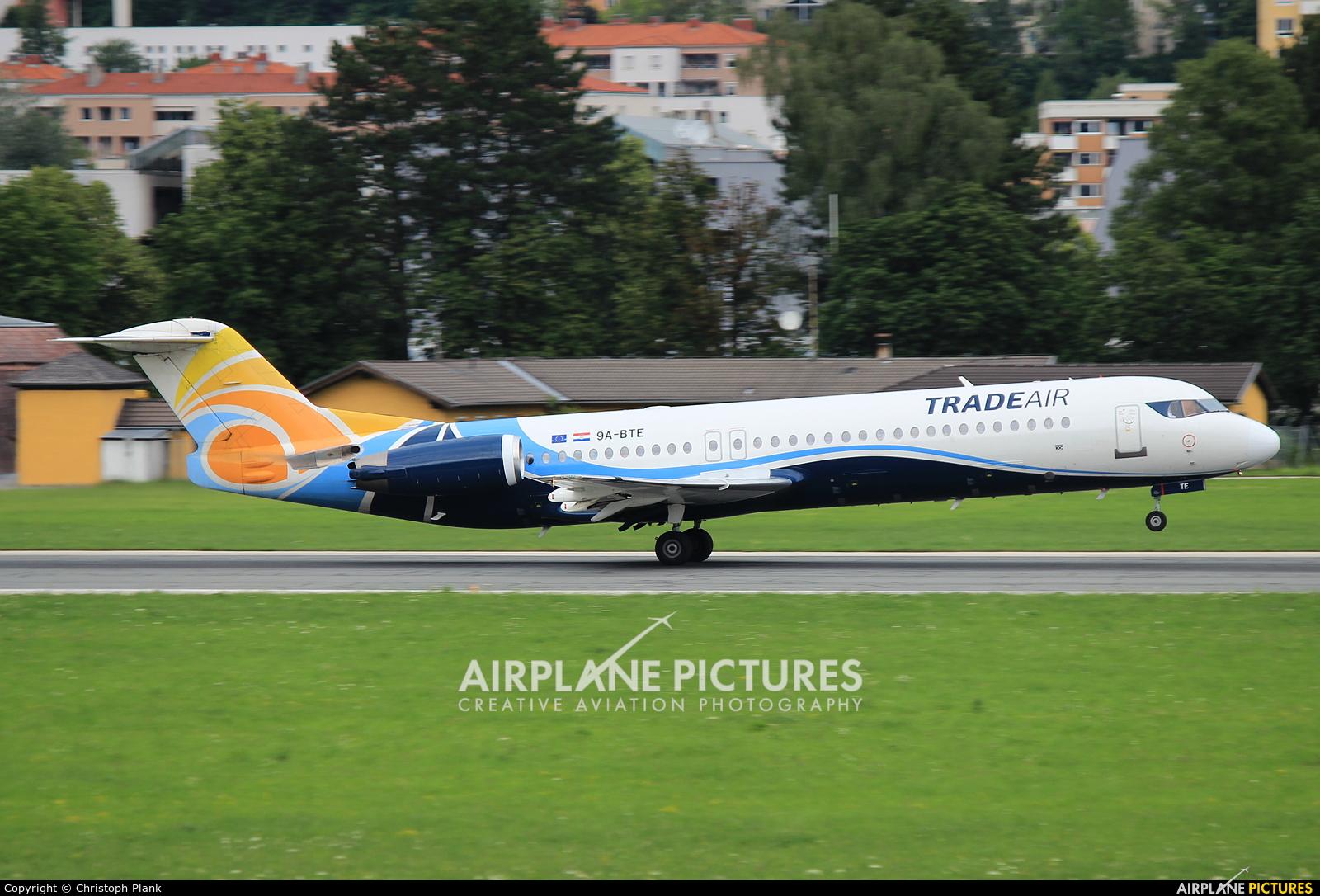 Trade Air 9A-BTE aircraft at Innsbruck
