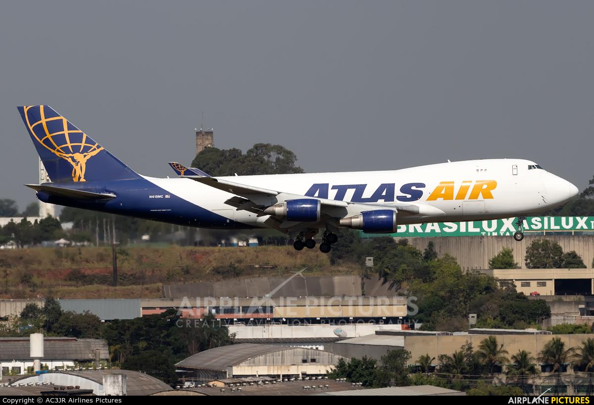 Atlas Air N415MC aircraft at São Paulo - Guarulhos