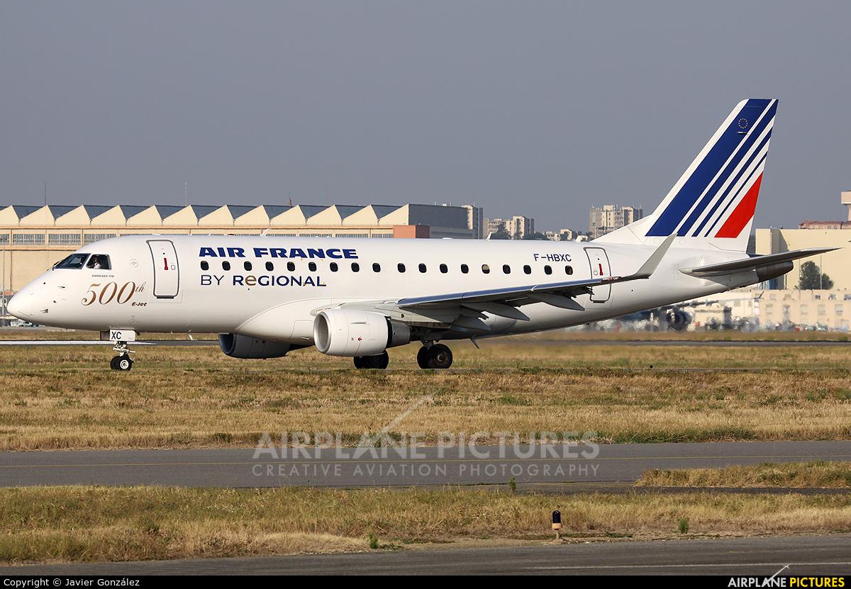 Air France - Regional F-HBXC aircraft at Toulouse - Blagnac