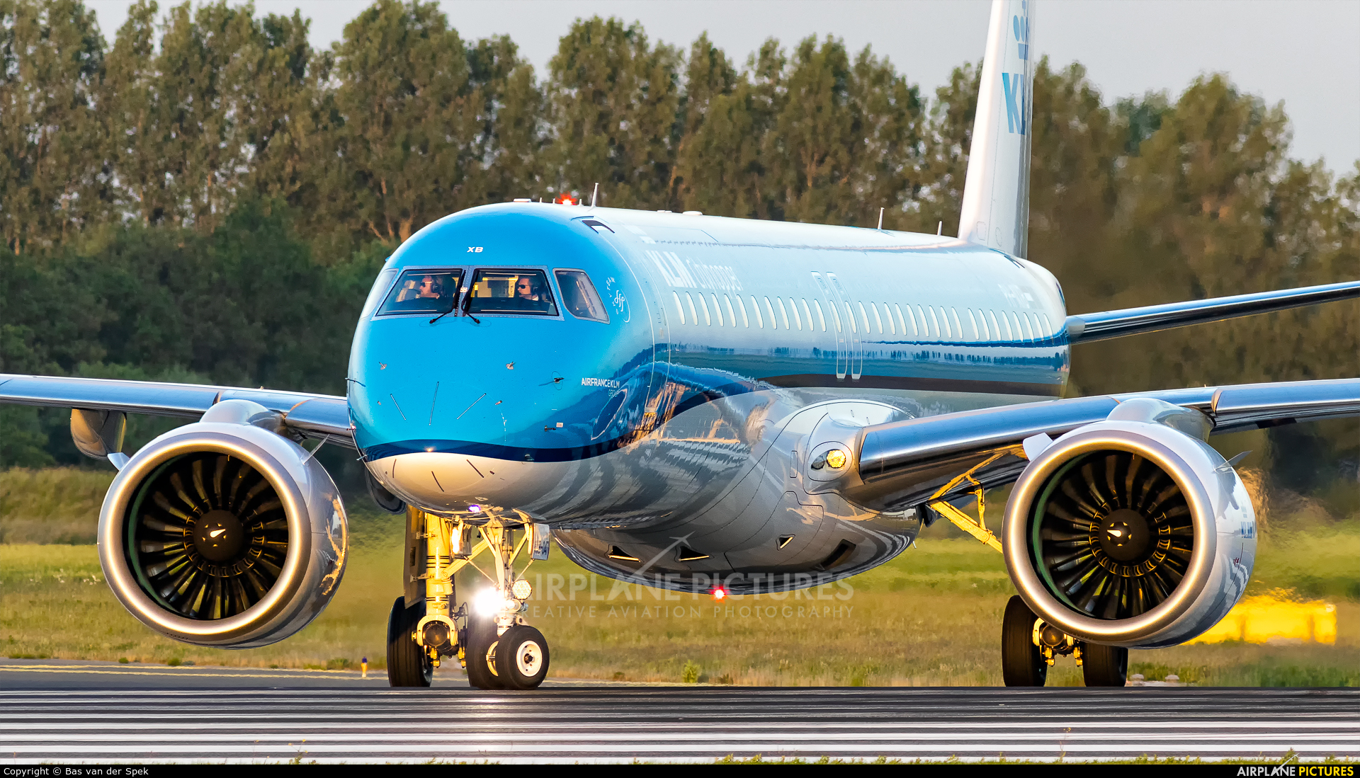 KLM Cityhopper PH-NXB aircraft at Amsterdam - Schiphol