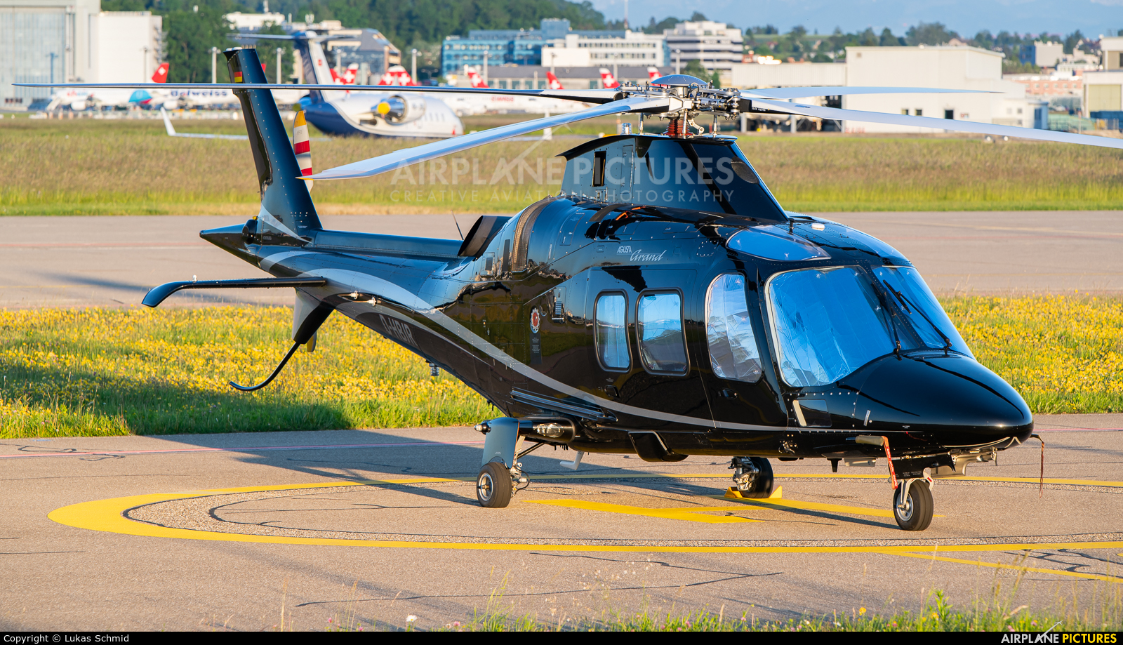 Private D-HBJR aircraft at Zurich