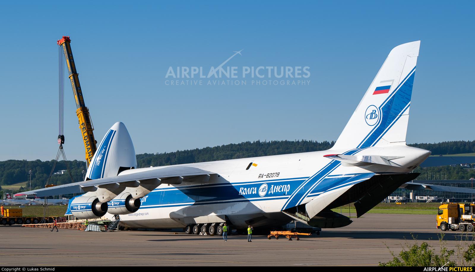 Volga Dnepr Airlines RA-82078 aircraft at Zurich
