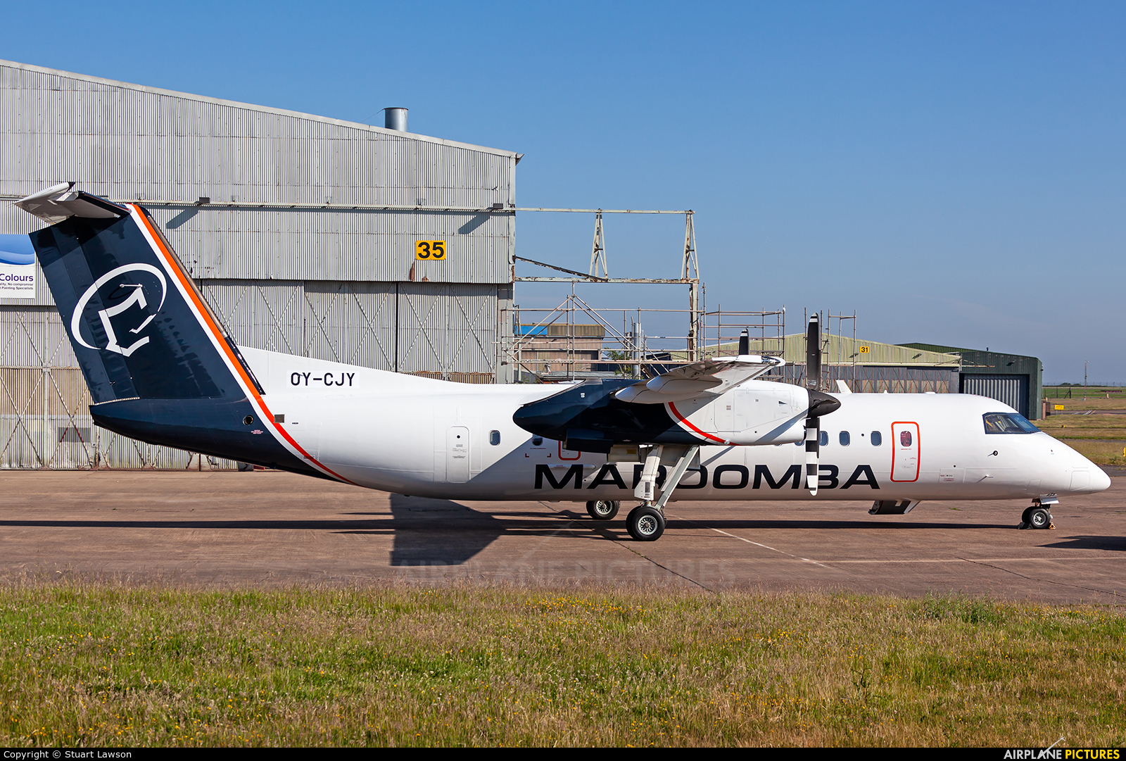 Maroomba Airlines OY-CJY aircraft at East Midlands