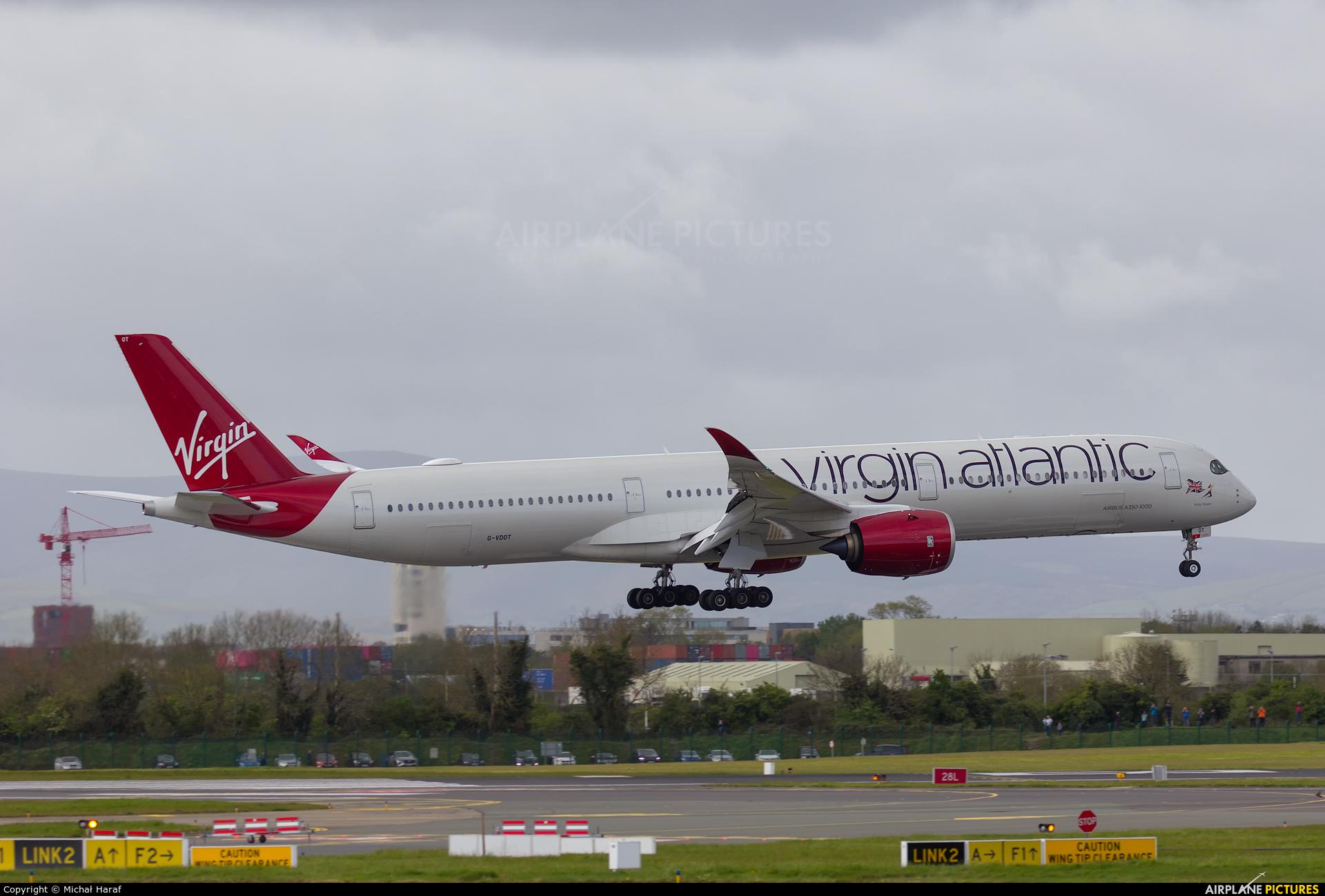 Virgin Atlantic G-VDOT aircraft at Dublin