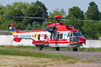 55 BLUE - Ukraine - Ministry of Emergency Situations Eurocopter AS225 LP