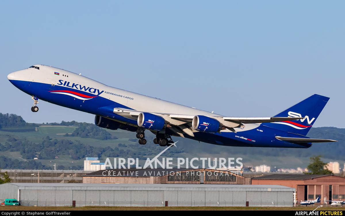Silk Way Airlines VQ-BBM aircraft at Basel - Mulhouse- Euro