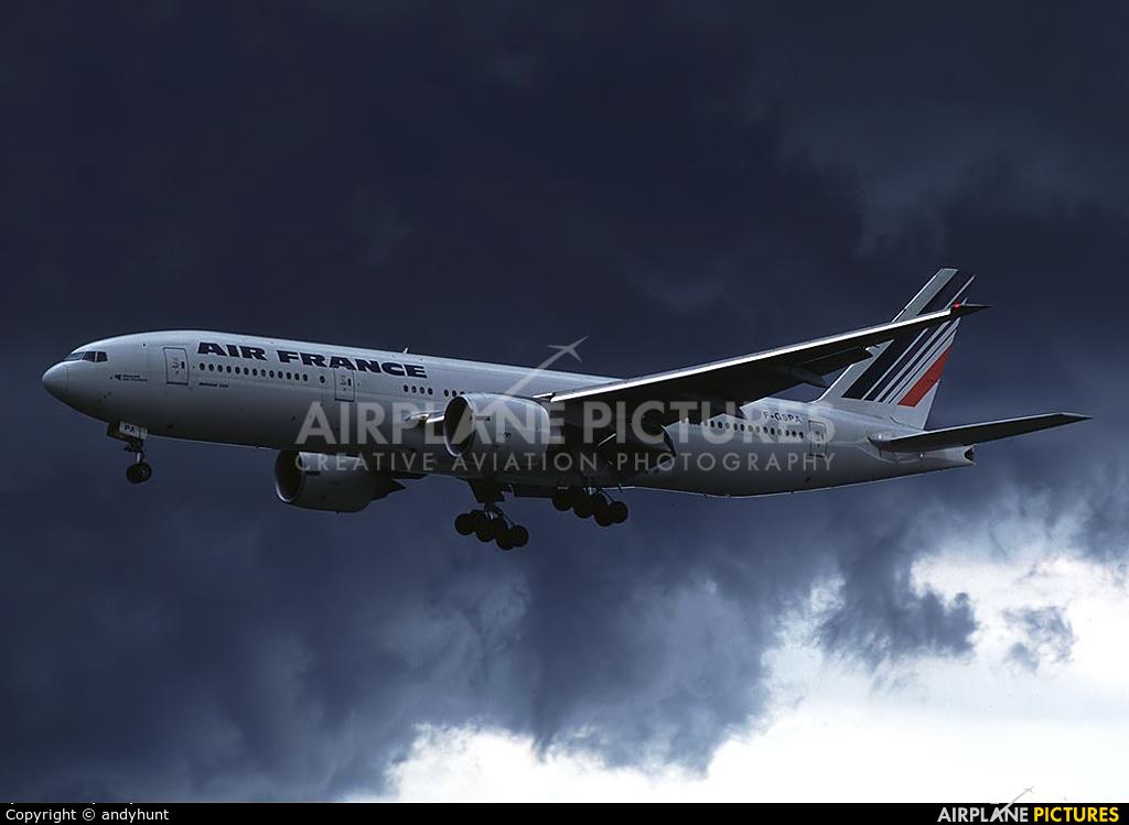 Air France F-GSPA aircraft at Singapore - Changi