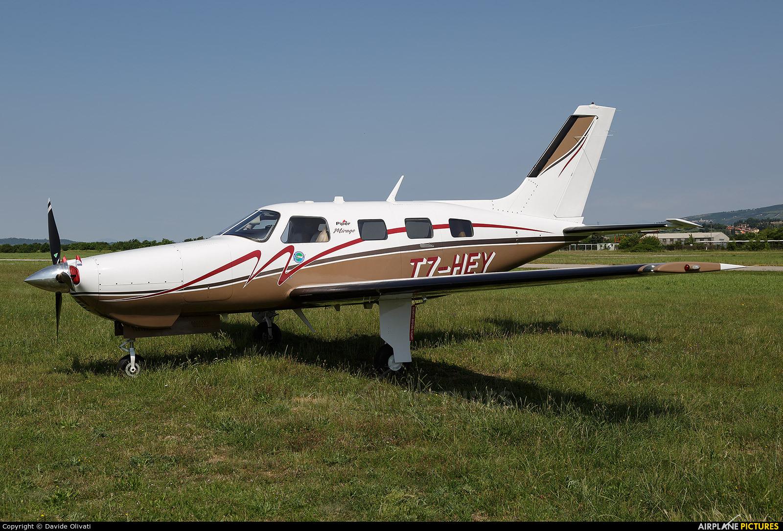 Private T7-HEY aircraft at Verona - Boscomantico