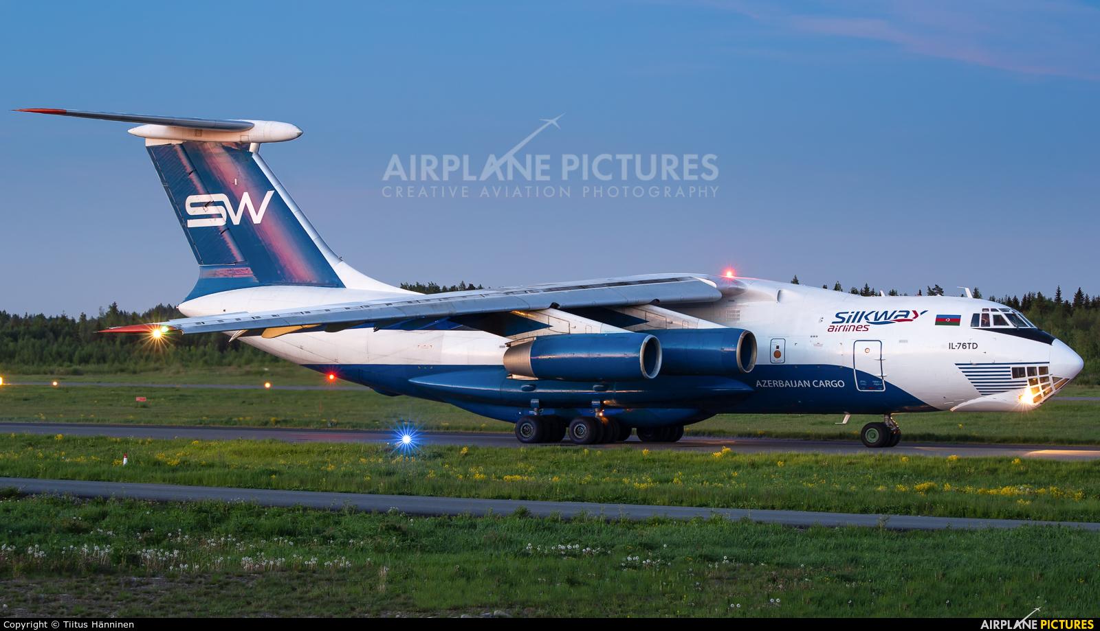 Silk Way Airlines 4K-AZ40 aircraft at Tampere-Pirkkala