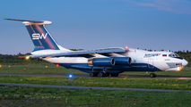 Rare visit of SilkWay Il-76TD to Tampere title=