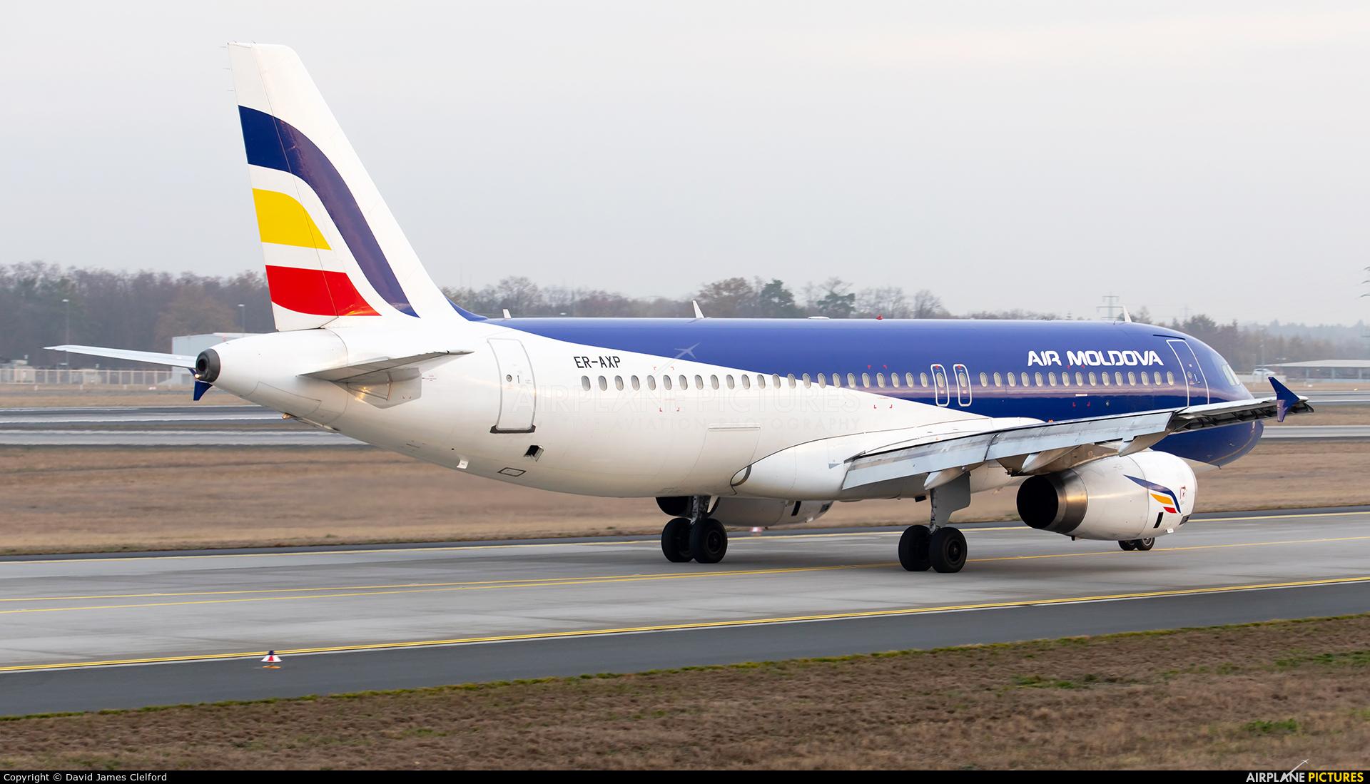 Air Moldova ER-AXV aircraft at Frankfurt