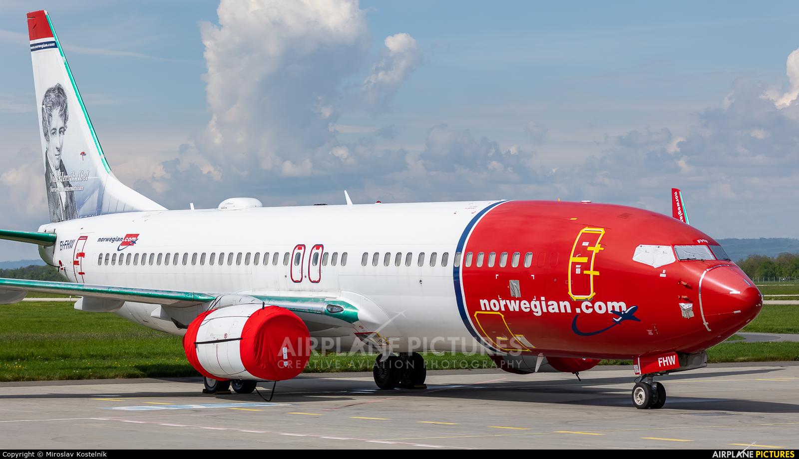 Norwegian Air International EI-FHW aircraft at Ostrava Mošnov