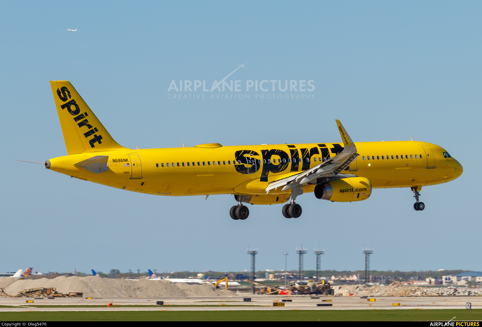 Spirit Airlines N686NK aircraft at Chicago - O Hare Intl
