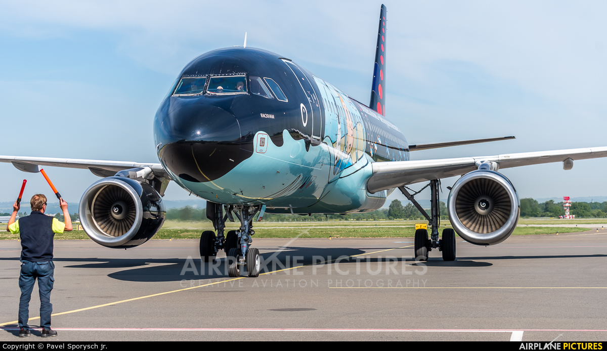 Brussels Airlines OO-SNB aircraft at Ostrava Mošnov