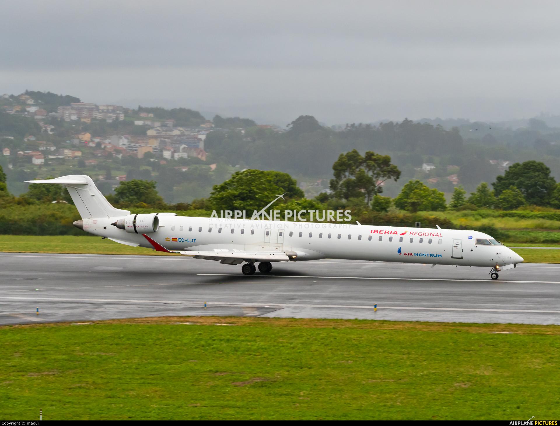 Air Nostrum - Iberia Regional EC-LJT aircraft at La Coruña