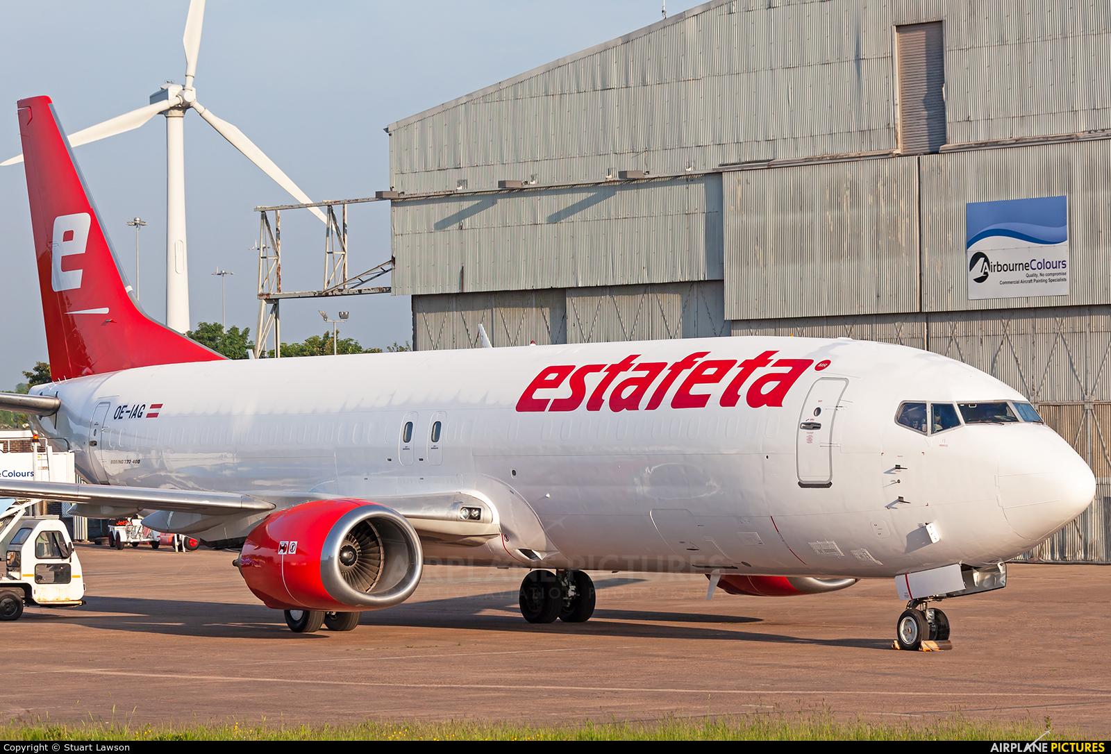 Estafeta Carga Aerea OE-IAG aircraft at East Midlands