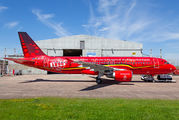 """Brussels """"Red devils"""" A320 now wears also special sticker title="""