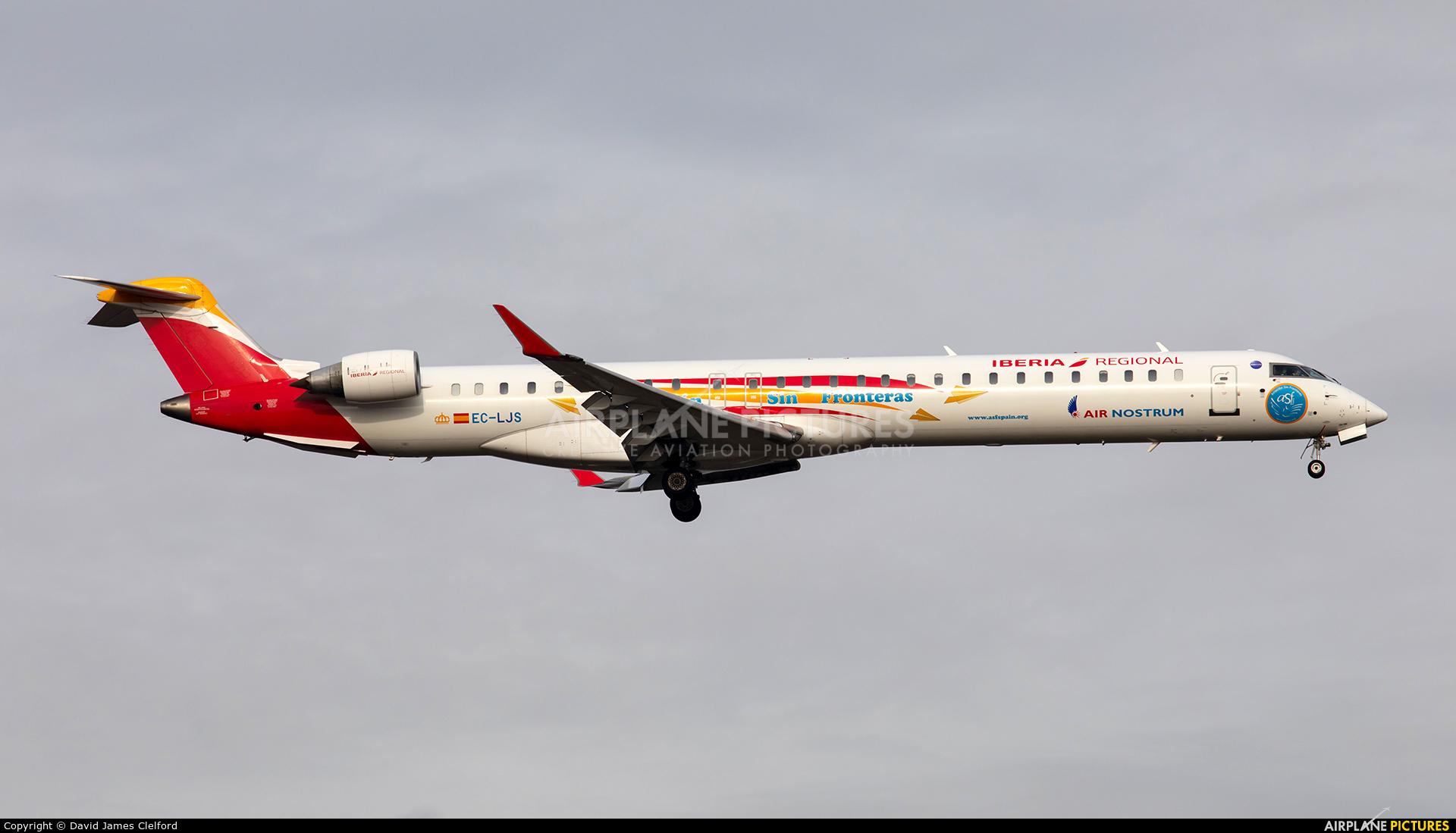 Air Nostrum - Iberia Regional EC-LJS aircraft at Frankfurt