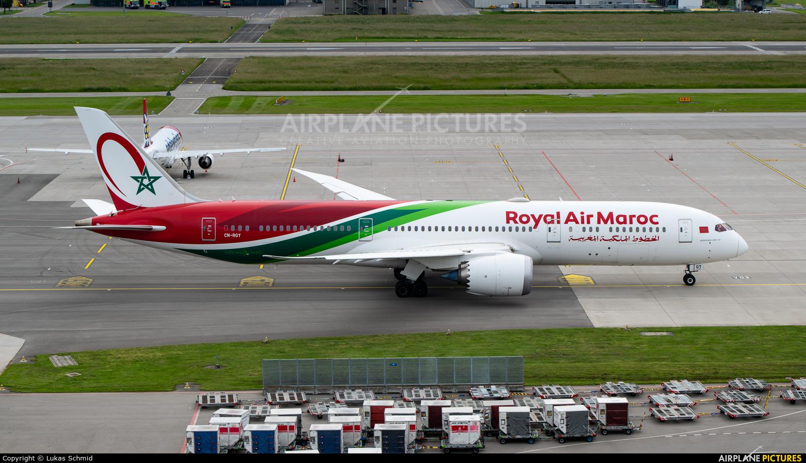 Royal Air Maroc CN-RGY aircraft at Zurich