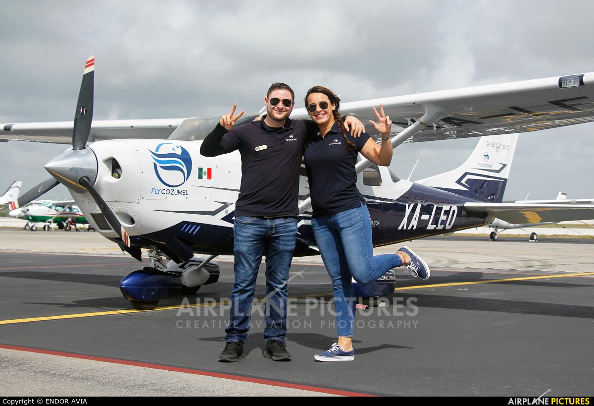 - Aviation Glamour XA-LEO aircraft at Cancun Intl