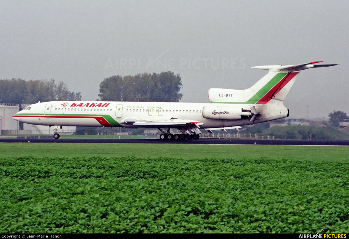 Balkan LZ-BTY aircraft at Brussels - Zaventem
