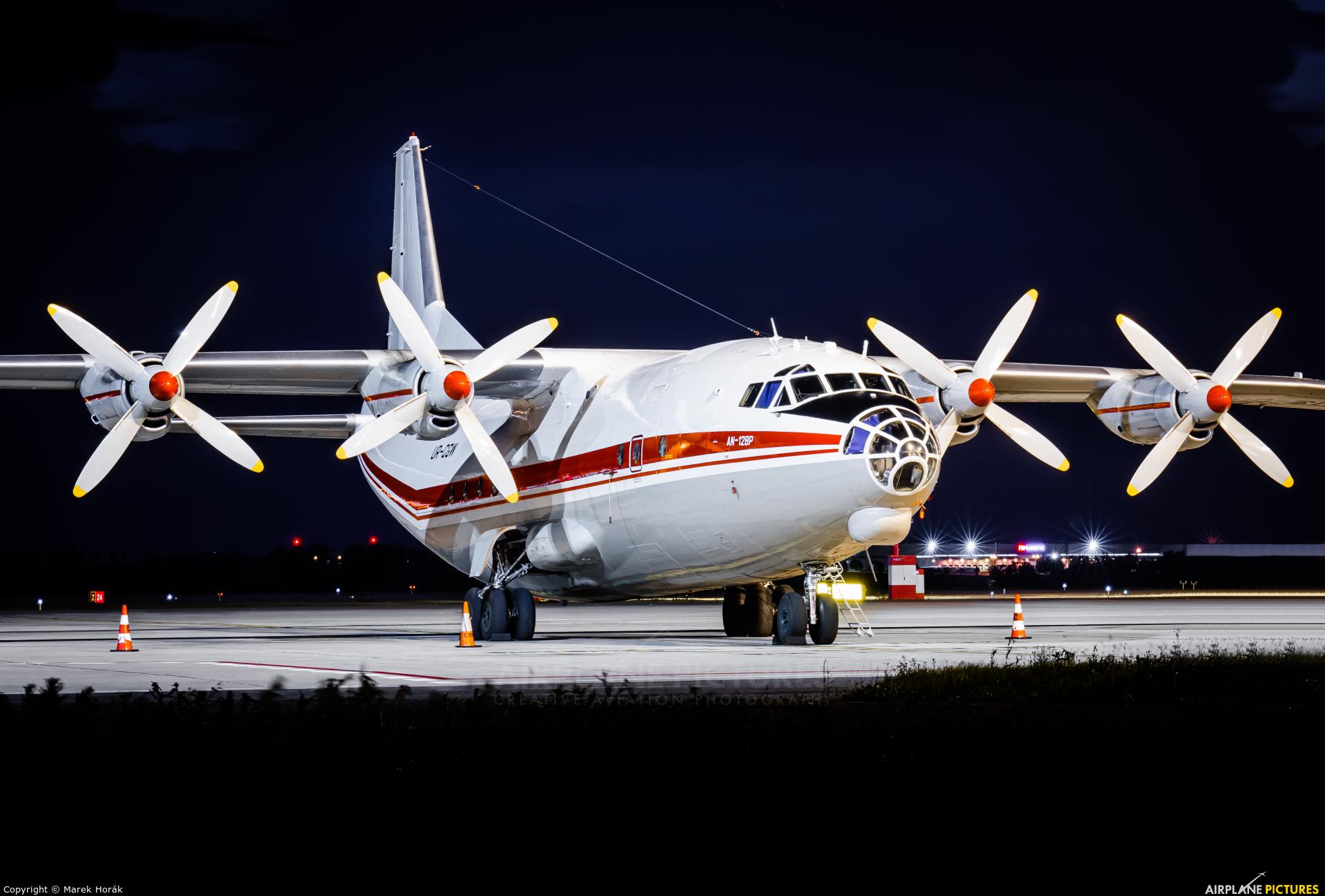 Meridian Aviation UR-CGW aircraft at Prague - Václav Havel