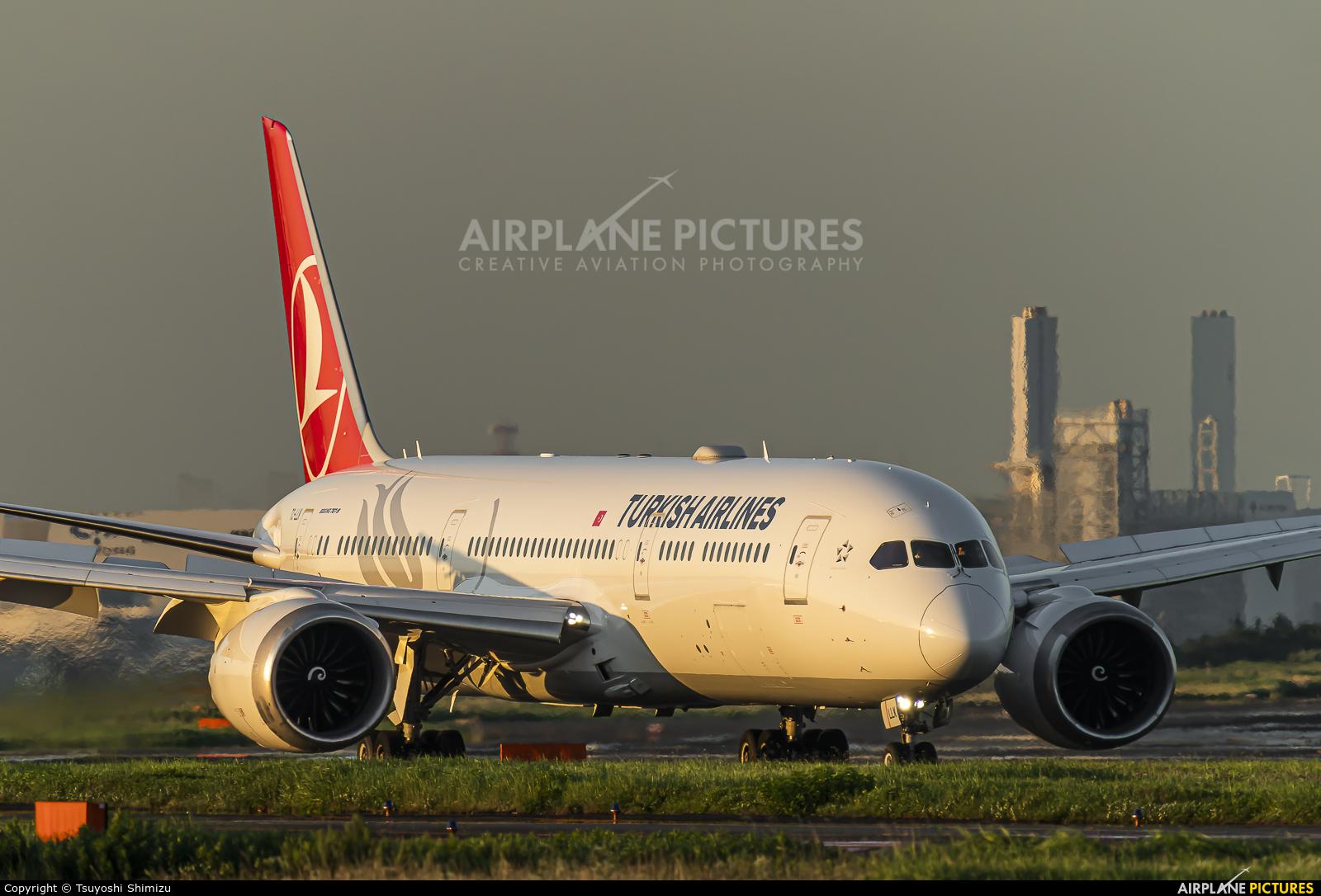 Turkish Airlines TC-LLK aircraft at Tokyo - Haneda Intl