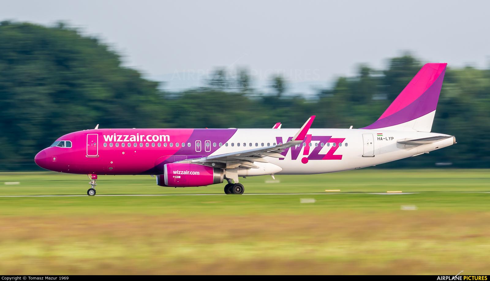 Wizz Air HA-LYP aircraft at Kraków - John Paul II Intl
