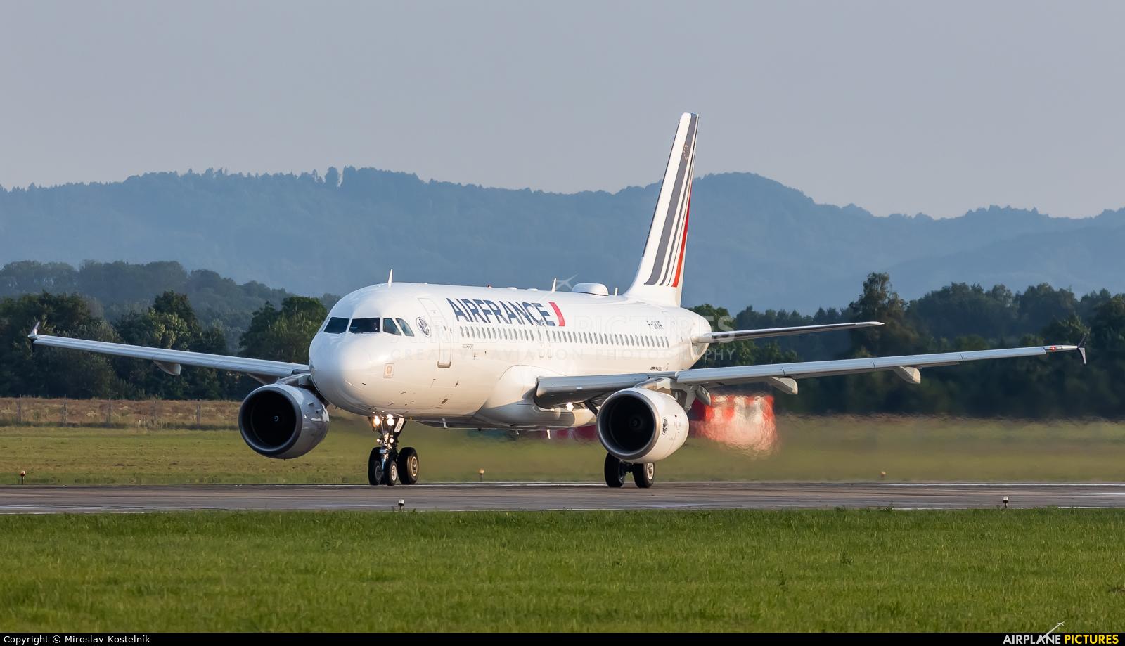 Air France F-GKXR aircraft at Ostrava Mošnov