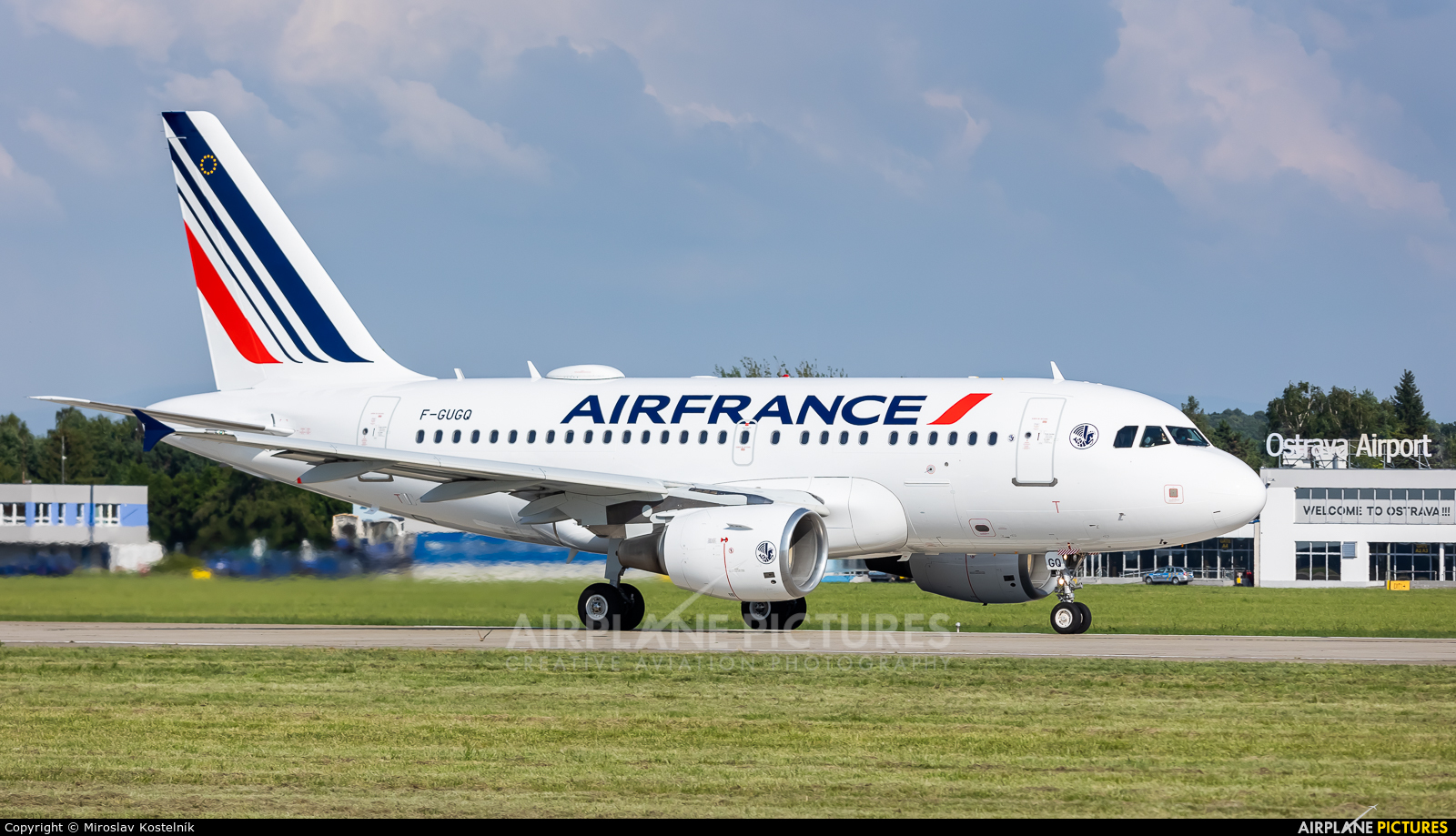 Air France F-GUGQ aircraft at Ostrava Mošnov