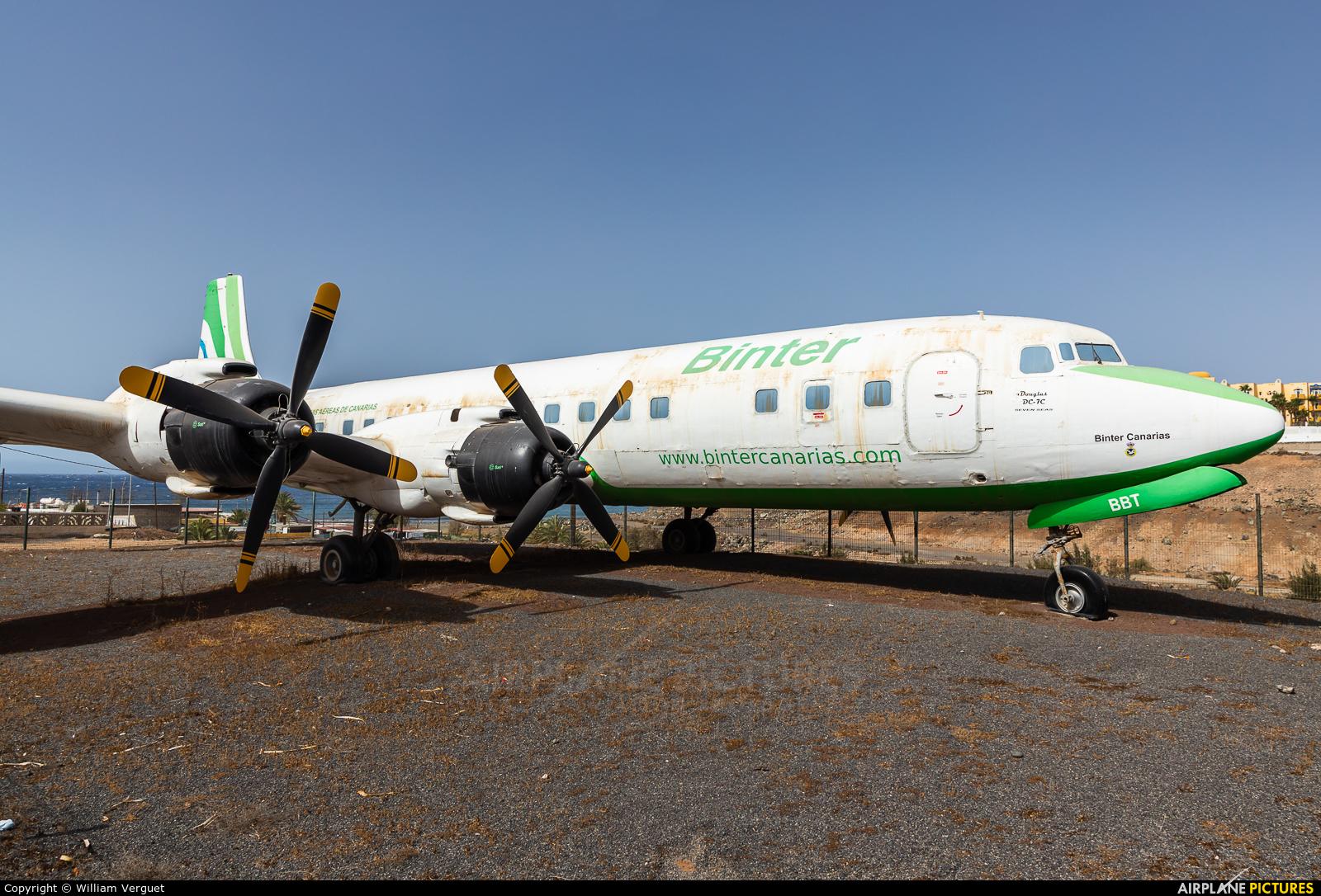 Binter Canarias EC-BBT aircraft at El Berriel